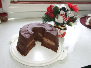 Low Carb Chocolate Chiffon Cake
