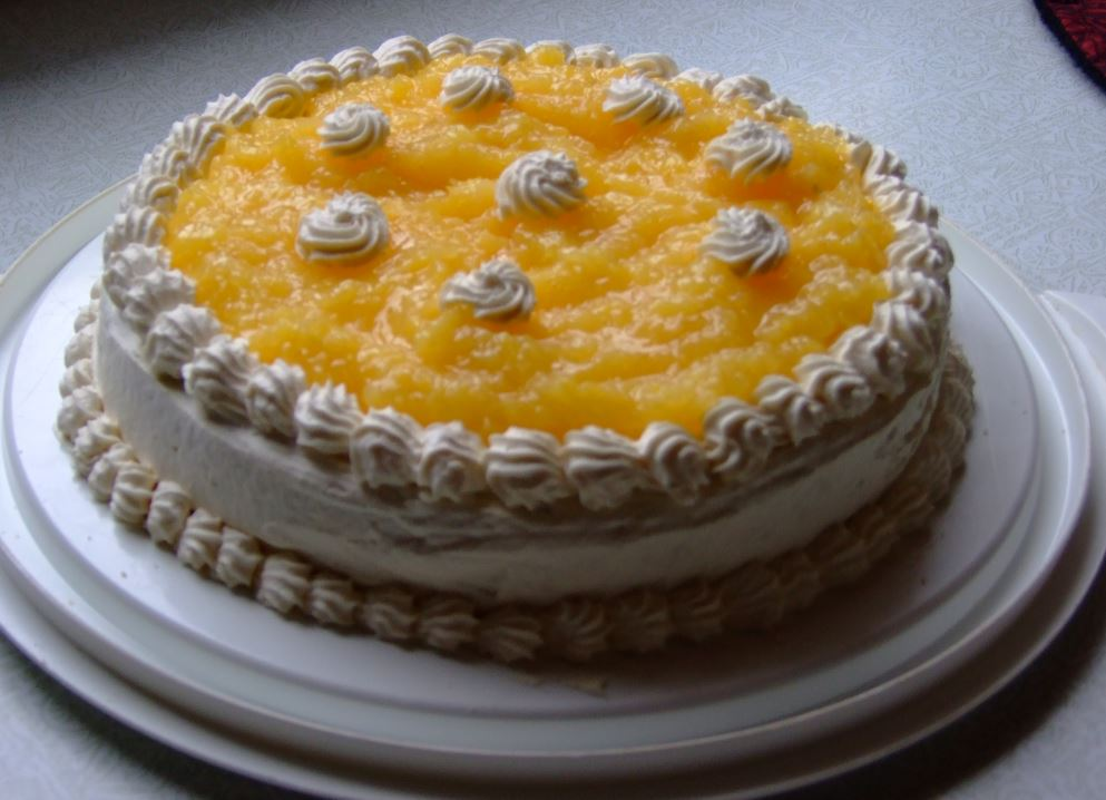 cake lemon layer cake pineapple layer cake recipe with step by step ...